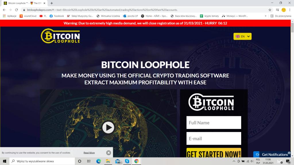 Bitcoin Loophole oficjalna strona
