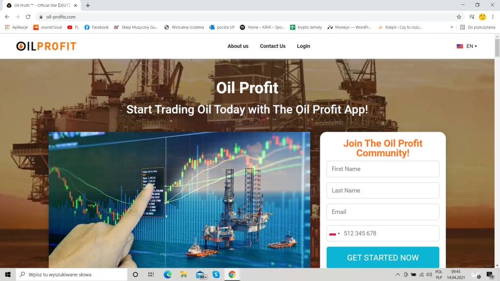 Oil profit oficjalna strona